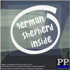 1 x German Shepherd Inside-Window,Car,Van,Sticker,Sign,Vehicle,Adhesive,Dog,Pet
